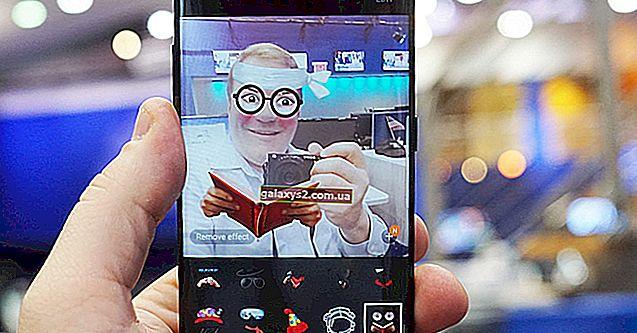 Kreis mit horizontaler Linie durch es auf Samsung Galaxy S8