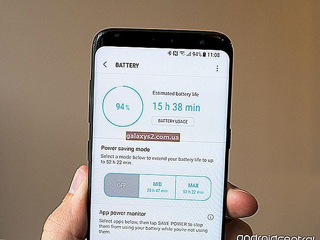 Kako popraviti Galaxy S8 Plus s slabo življenjsko dobo baterije